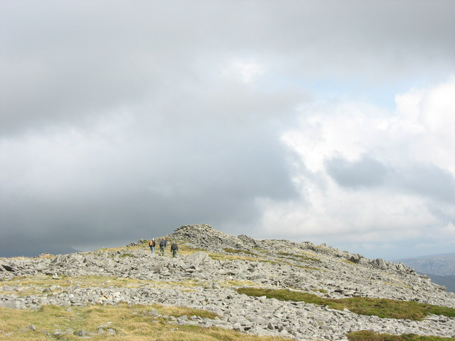 Approaching the Summit Cairn of Craig Cwm Silyn