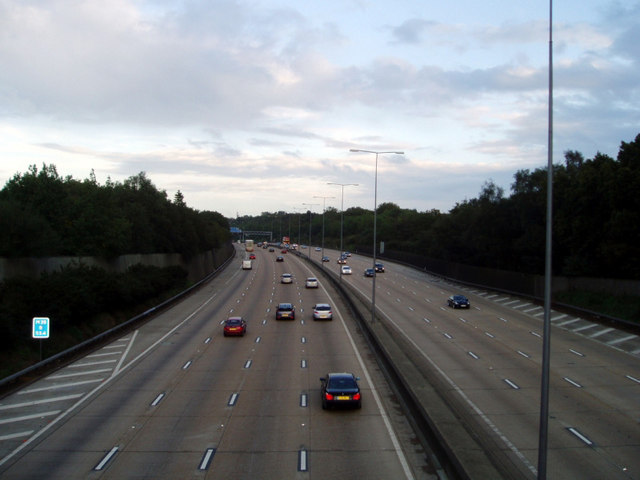 The M25 looking East