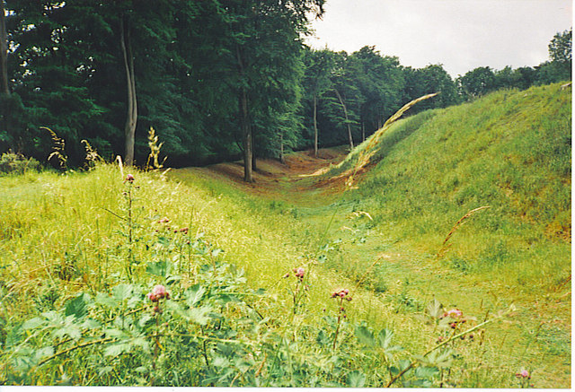 Ditch and Ramparts, Danebury Hillfort