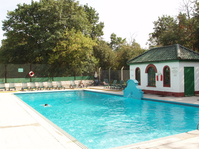 swimming pool ealing village david hawgood geograph britain and ireland