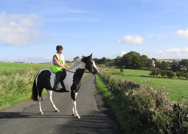 Horse rider near Hawthornside Farm