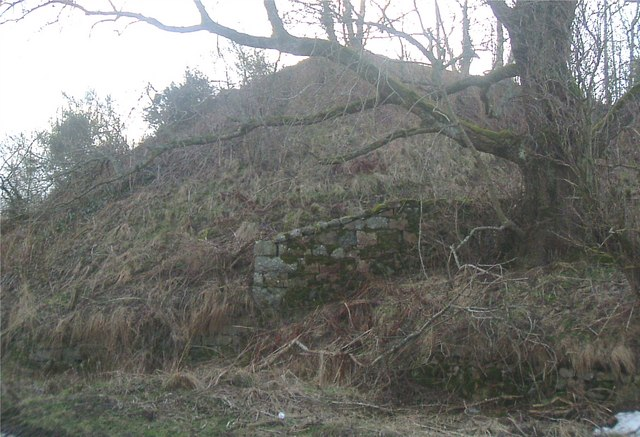 Western abutment of the former Sundayswells viaduct.