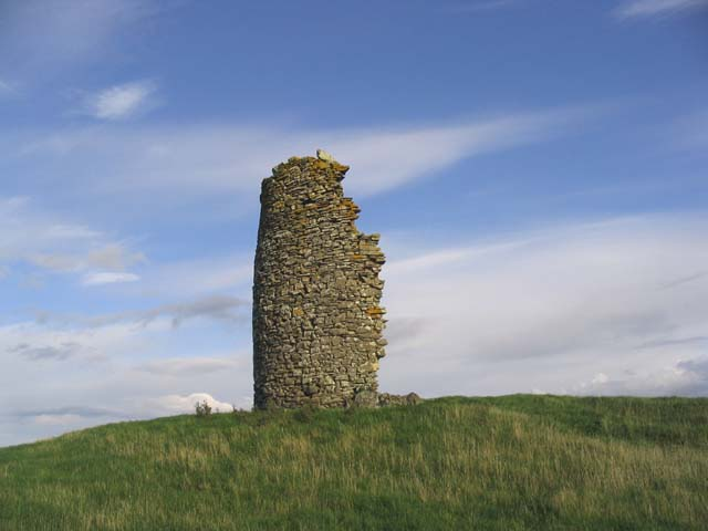 The ruined remains of a windmill near Kippilaw