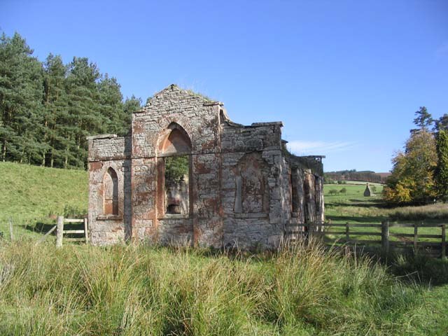 A ruined building near the remains of Abbotrule Church
