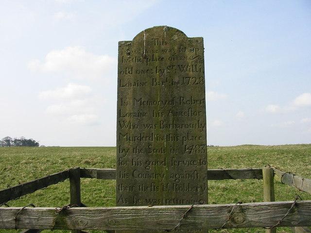 Loraine Memorial Stone, Kirkharle