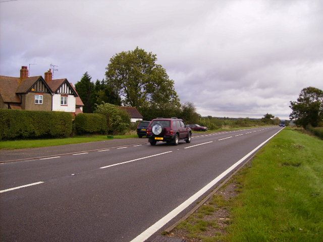 The A422 north of Thornton