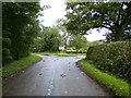 SP7634 : Road junction near Tyrellcote Farm by Phil Catterall