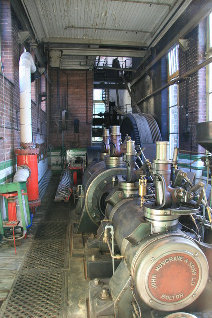 "Mill engine ""Edna"" at Bamford Mill"