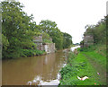 SJ6735 : Dismantled railway bridge, Shropshire Union Canal by Espresso Addict