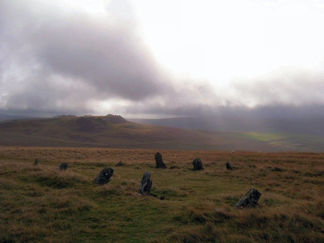 Beddarthur standing stone circle, Preseli Mountains