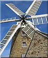SK3650 : Heage Windmill with new sails by Nikki Mahadevan
