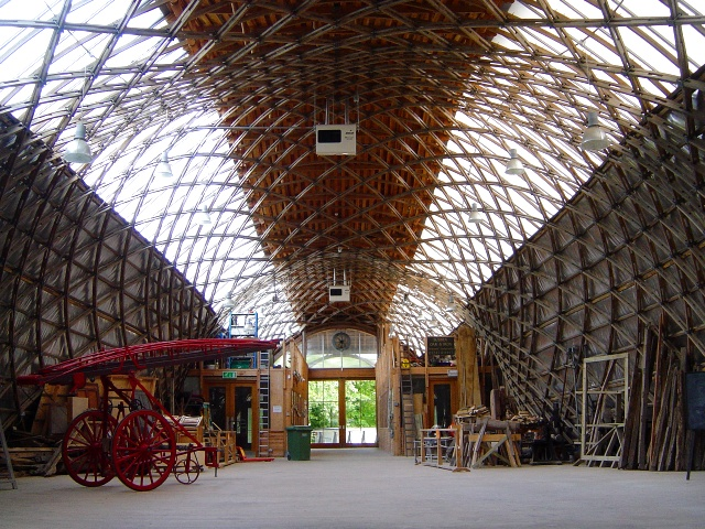 Inside the Weald and Downland Gridshell