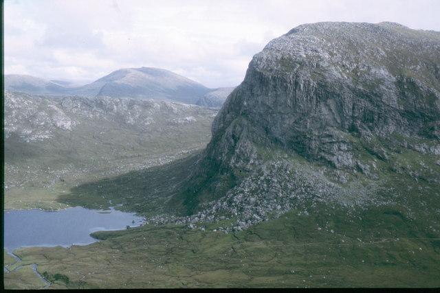 Sron Ulladail over Loch Uladail