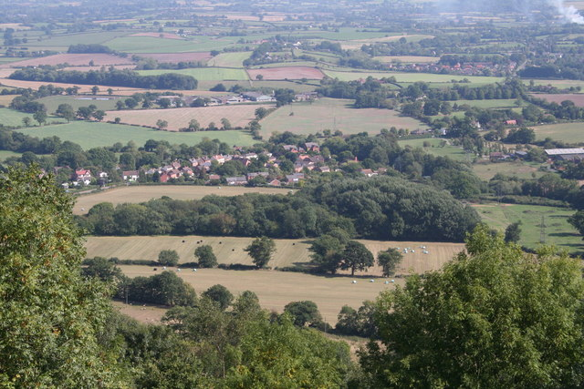Upper Welland from The Malvern Hills