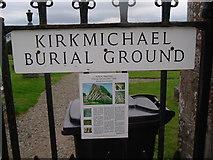 NH7065 : Kirkmichael Burial Ground by Stanley Howe