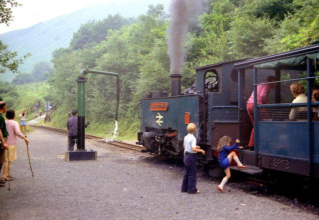Aberffrwd Station, Vale of Rheidol Railway - 1974