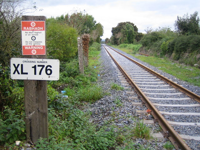 Fiodh Dúin (Fiddown): Railway line to Carrick-on-Suir