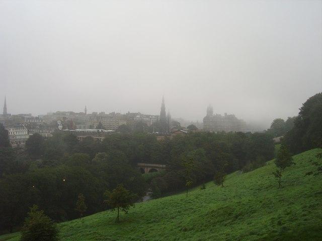 Edinburgh - misty cityscape