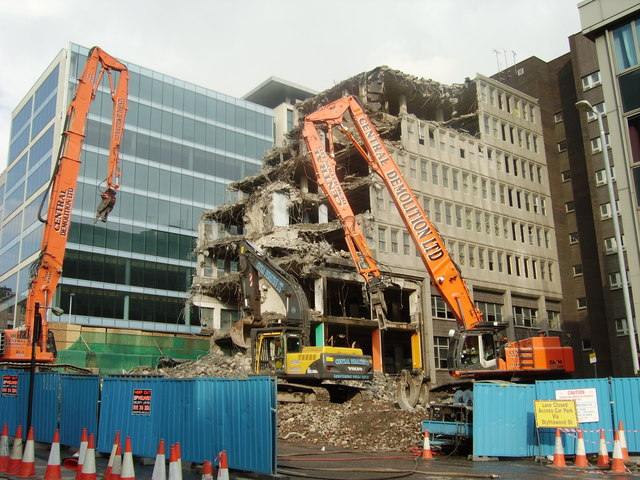 Demolition, Glasgow City Centre