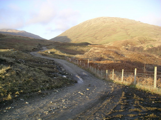 Track from Gleann a' Chlachain to Strath Fillan