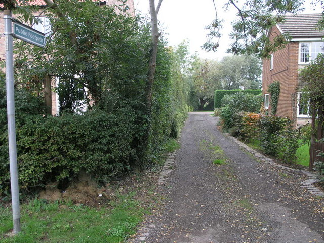 Footpath and Drive