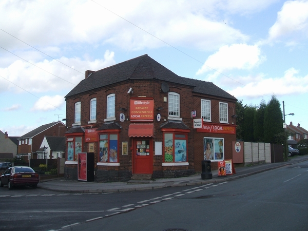 Old shop between Commonside and Friezland Lane
