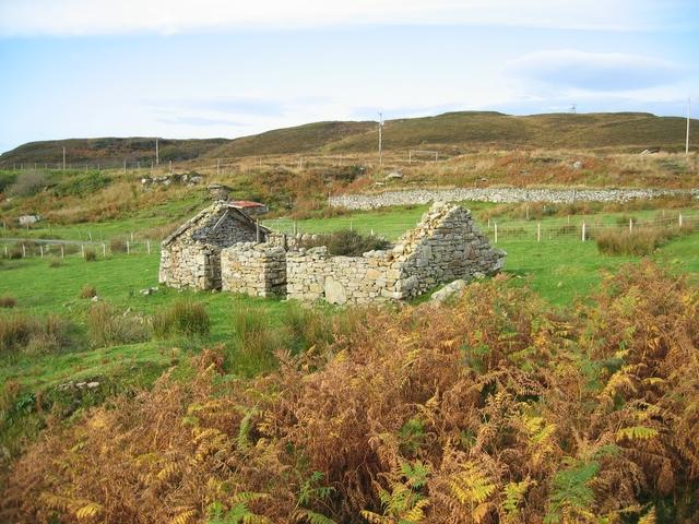 Ruined croft house