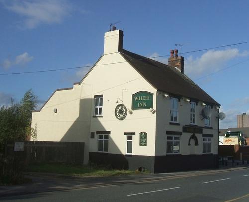Wheel Inn near former Walsall Wood Colliery