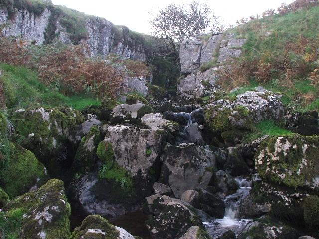 Waterfall in Darnbrook Beck.