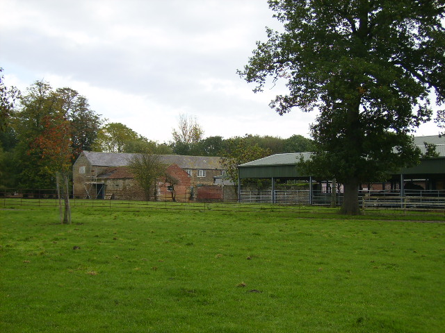 Farm buildings adjacent to Sheriff Hutton Hall