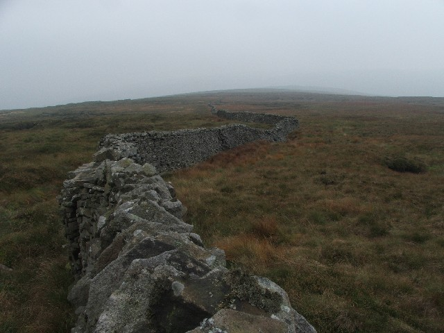 Drystone Wall on Darnbrook Fell.