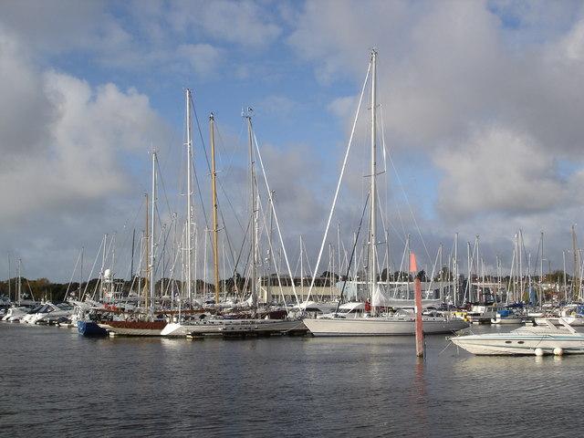 View of Lymington Marina