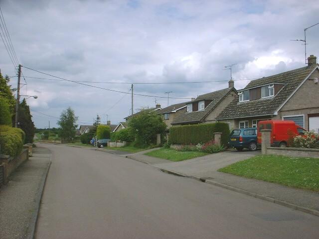 Bunting's Lane in Warmington looking North