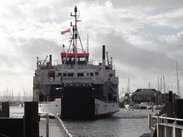 Wightlink Ferry at Lymington Terminal