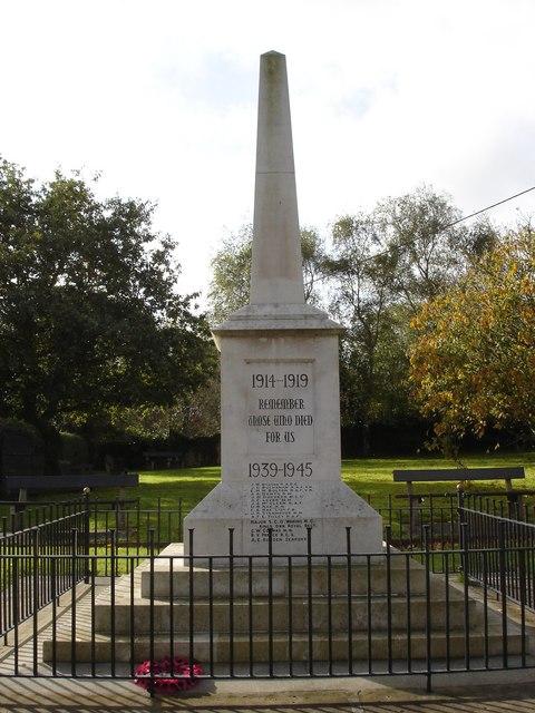 War Memorial in Totland