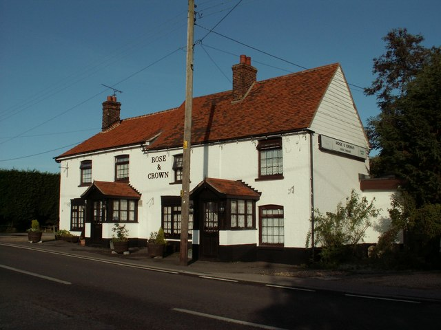 'Rose & Crown' inn at Tolleshunt Knights, Essex