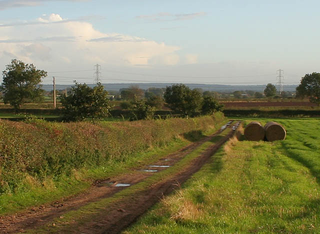 Farm track near Barleyholme Wood