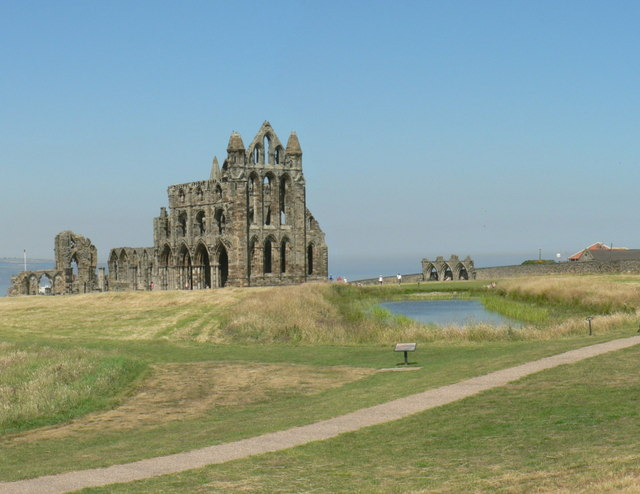 Whitby Abbey and the pond
