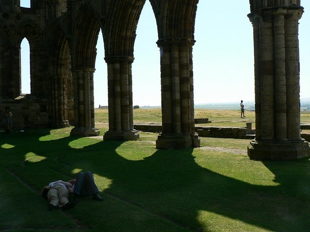 Whitby Abbey shadows