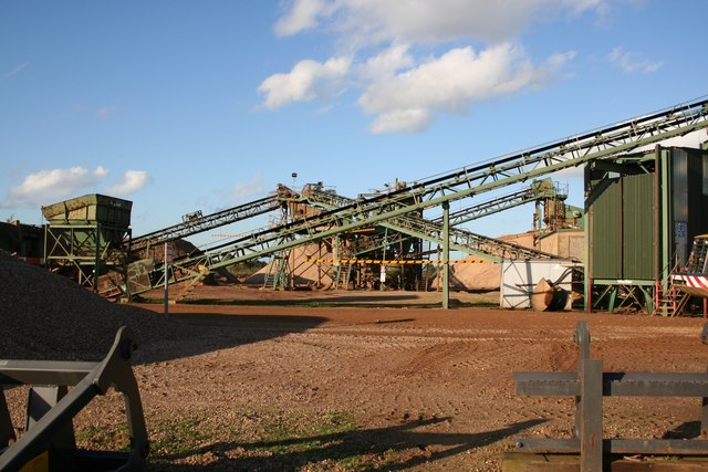 Aggregate extraction works
