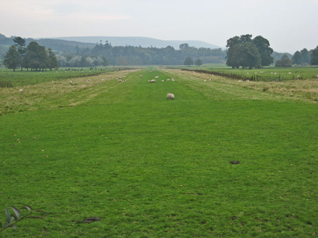 Grass runway on the Kilkerran estate