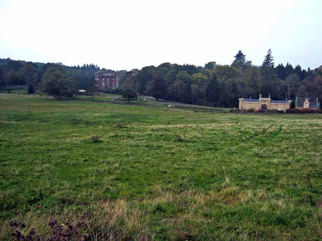 Distant view of Cloncaird Castle