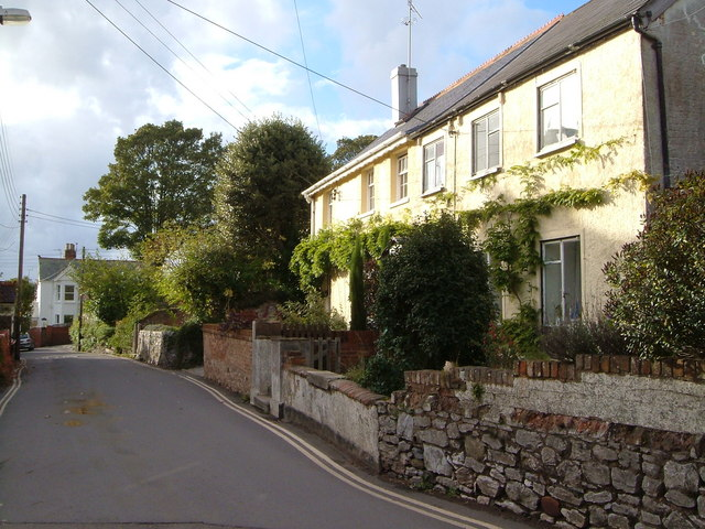 Cottages on Church Road, Lympstone