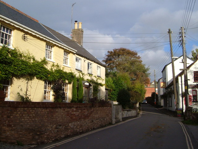 Church Road, Lympstone and the Redwing Inn