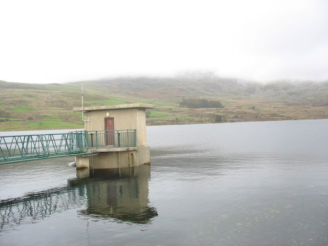 The Straining Tower at Llyn Cwmystradllyn Reservoir
