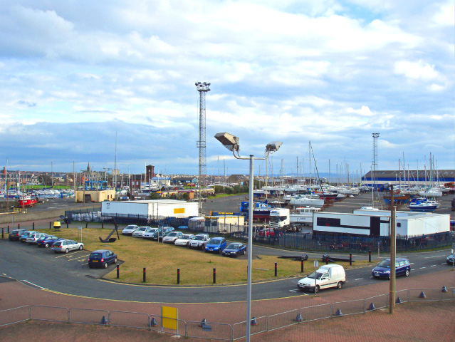 Ardrossan harbour and marina