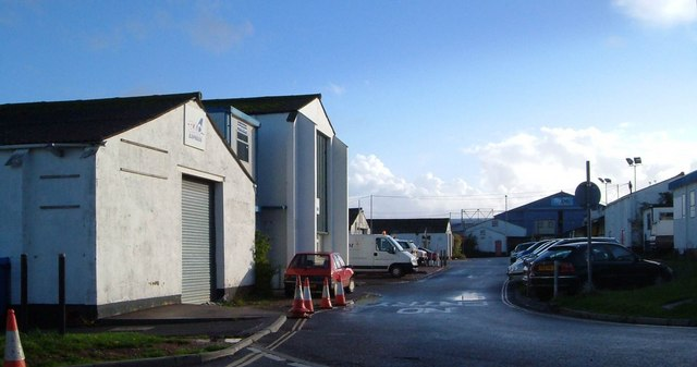 Commercial buildings at Exeter Airport