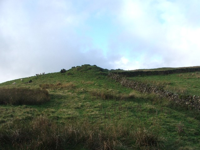 Drystone Wall Corner and Mound on High Pasture.