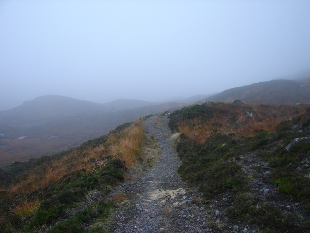 Ascending to Bealach Dubh