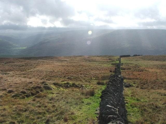 Drystone Wall on Yockenthwaite Moor.